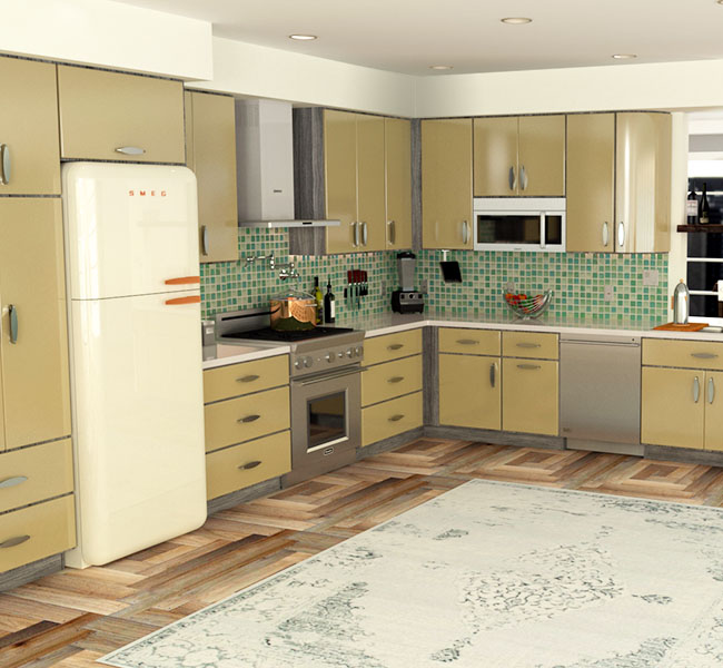 Mobile Kitchens Usa: Metal Kitchen Cabinets