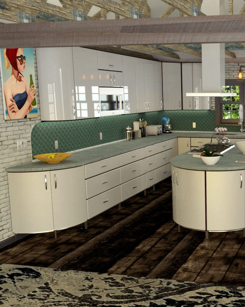 Retro, Vintage & Modern Metal Kitchen Cabinet Design Gallery ...
